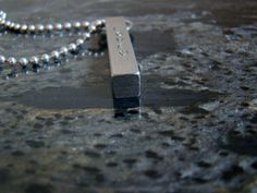 Solid Four Sided Stainless Steel Bar Necklace with by SXpressions, $28.00