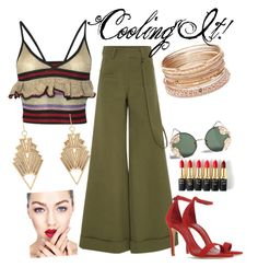 """""""cooling it"""" by fashiontagboutique on Polyvore featuring Rosie Assoulin, Sibling, Schutz, Charlotte Russe, Red Camel, Spitfire and L'Oréal Paris"""
