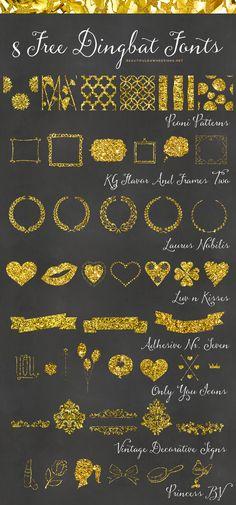 8 Free Dingbat Fonts| Font Series 07 - Beautiful Dawn