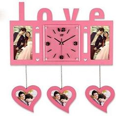 Adorable, Charming and Unique Heart Shaped Wall Decor Unique Wall Clocks, Unique Wall Art, Home Wall Art, Wall Art Decor, Mothers Day Decor, Heart Wall Art, Diy Clock, Pretty Room, Glass Wall Art