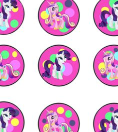 Free My Little Pony Cupcake topper printable files