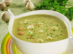 The healthy: Cream of Cauliflower Soup With Curry   Much the sa...