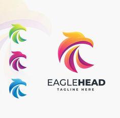 Eagle Head Logo Template AI, EPS