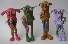 Lowbrow one of a kind clay ooak monster art doll by mealymonster, $42.00