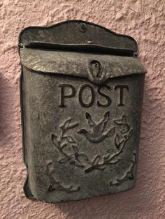 Rustic Galvanized Metal Post MailBox - Country Style - - Amazon.com
