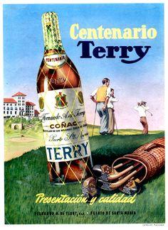 Coñac centenario Terry, 1960