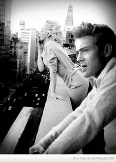James Dean Marilyn Monroe | photo manipulation by Brailliant | POSTER PRINTS AND CANVAS ART DIRECTLY FROM THIS ARTIST! (www.brailliant.com)