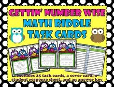This pack includes:25 task cards and a cover card        *Each task card lists clues (or criteria) for a number.  Students          must choose from a list of 5 numbers which one(s) fit the            specified clues.          *Since many of the cards have more than one          correct answer, students must use their logic and reasoning          skills to filter through the information presented in order to          find all possible answers.Student Response SheetAnswer key :) Skills covered wi...
