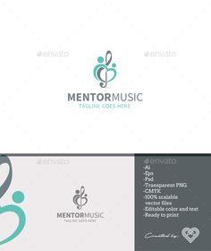 Mentor Music Design Template - Symbols Logo Template PSD, Vector EPS, AI Illustrator. Download here: https://graphicriver.net/item/mentor-music/18154783?ref=yinkira