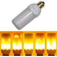 JUNOLUX LED Burning Light Flicker Flame Light Bulb Fire Effect Bulb Decorative Lamp Energy-saving Eco Friendly Light Bulbs Indoor or Outdoor Decoration,Pack of 1