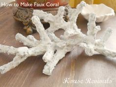 House Revivals: How to Make Faux Coral that includes her recipe for paper mache pulp that she also used for her starburst mirror (knock off of one from horchow).