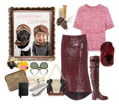 """""""Paper plane pilot"""" by juliabachmann ❤ liked on Polyvore featuring Mulberry, Prada, Gucci, Napoleon Perdis, Lilly e Violetta and Aspinal of London"""