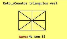 Cuántos #triangulos ves? #problemas # matematicas #geometria #pensamientos #reflexiones #masquebromas #risas #humor #bromas