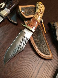 Forging Knives, Forged Knife, Diy Knife, Knife Art, Knives And Tools, Knives And Swords, Leather Working, Metal Working, Knife Patterns