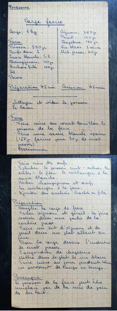 Carpe farcie - recettes de famille - cahiers de cuisine familiale - Poisson
