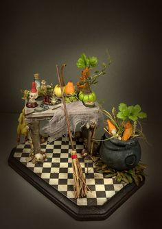 OOAK Witch Table Halloween by veronabarrella on DeviantArt