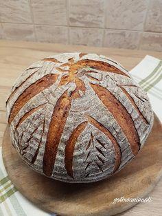 Chleb pszenno-żytni na zakwasie Sourdough Bread, Recipies, Rolls, Cooking Recipes, Eat, Breakfast, Food, Polish Recipes, Breads