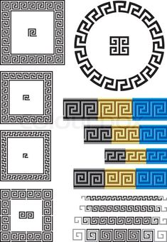 Stock vector ✓ 13 M images ✓ High quality images for web & print | Borders and dividers created using ancient Greek key patterns.