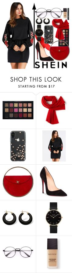"""""""never let go"""" by geekyravenclaw ❤ liked on Polyvore featuring Lacoste, Kate Spade, Charlotte Olympia, Christian Louboutin, Palm Beach Jewelry, CLUSE, Laura Mercier and Christian Dior"""