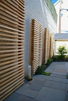 Cool Backyard Trellis Ideas for Landscape Contemporary design ideas with Cool exposed brick flagstone