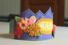 Crown with Birds Flowers and Butterflies by maureencracknell, $25.00