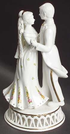 My wedding cake topper!  Hoping to someday get the whole Royal Albert Old Country Roses china for my empty China cabinet :)
