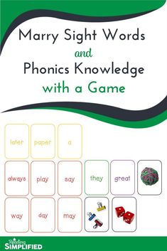 Give your students this fun game (FREE!) and watch them race to read more and more words! The game Steal It! is a sneaky way to get students to recognize both key phonics patterns AND high frequency words.while thinking they're just playing a game. Phonics Reading, Reading Games, Teaching Phonics, Kids Reading, Teaching Reading, Teaching Kids, Teaching Sight Words, Sight Word Activities, Phonics Activities