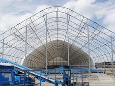A ClearSpan airplane hangar can store even the largest aircraft. Membrane Structure, Shelters, Airplane, Louvre, Architecture, Building, Top, Travel, Ideas