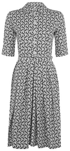 #dress - 40% OFF  A lovely Fair Trade shift dress from People Tree made with 100% Organic Cotton for a soft feel and ethical alternative to high street fashion. The shirt style dress features a bird print designed by Orla Kiely, famous for her unique retro prints, giving this dress a vintage feel.