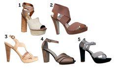 Sapato femininos com salto grosso