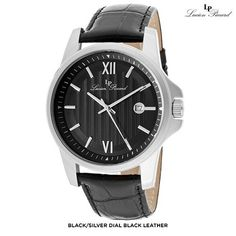 Lucien Piccard Men's Breithorn Watch with Genuine Leather Strap - Assorted Colors at 93% Savings off Retail!