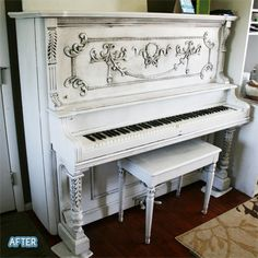 A painted piano. Not really seeing any of these that I love; wish I could find more inspiration for this upcoming project.