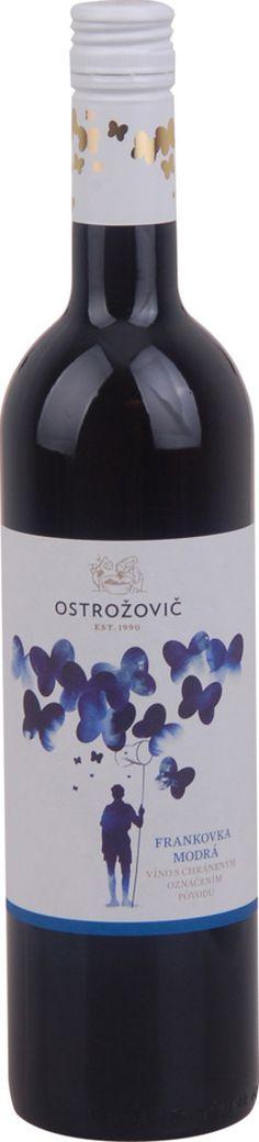 J Ostrožovič Frankovka modrá, Východoslovenská oblasť, r2011, akostné víno, červené, suché 0,75L