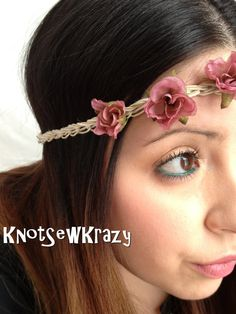 Handmade Crochet Hemp and Cotton Floral Hippie by KnotSewKrazy, $10.00