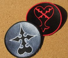 Choose one Heartless OR Nobody Sew on embroidered Patch from Kingdom hearts