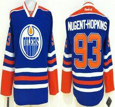 Edmonton Oilers Jersey 93 Ryan Nugent-Hopkins Royal Blue Jerseys 0ec7df3e4