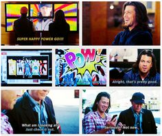 I loved how much Eliot loved that video! And Mr. Punchy. #Leverage
