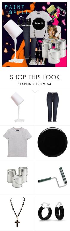 """""""Paint Spill"""" by shell-moore ❤ liked on Polyvore featuring Melissa McCarthy Seven7, Tommy Hilfiger, Deborah Lippmann and Bling Jewelry"""