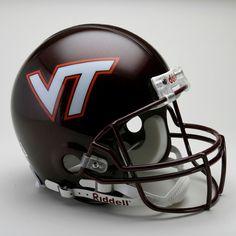 Virginia Tech Football Helmet | Virginia Tech Hokies Riddell Full Size Authentic Proline Football ...