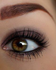 maquillage yeux de biche, astuces maquillage yeux verts smokey eye