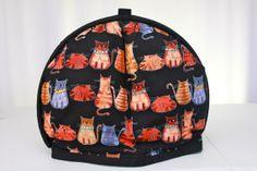 Cats Tea Cosy Tea cozy Handmade tea cosy Fabric by TheCosyTeapot, $39.95