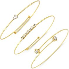 Vince Camuto Gold Crystal Accented Set Of 3