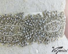 Swarovski Crystal Applique Wedding Gown Belt