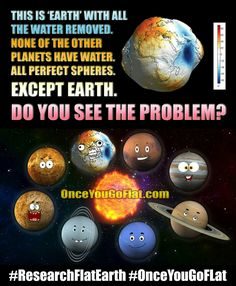 The problem is you accept that all the other planets are indeed round, but not our Earth.