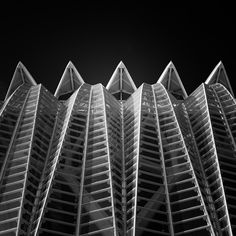 "Title ""Zig Zag"" Santiago Calatrava Architecture Black and White Long Exposure Photography Valencia Spain February 2017 Valencia Spain, Santiago Calatrava, Zig Zag, Skyscraper, Multi Story Building, Louvre, Black And White, Architecture, Buildings"