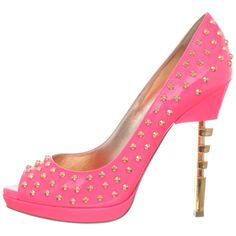 Awesome heel!  Ruthie Davis Women's Punkie Peep-Toe Pump