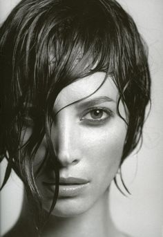 Christy Turlington shot by James Houston for Not Only Black + White, 2005