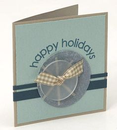Use Scraps of Ribbon to Dress up Buttons for Low-Cost Holiday Cards