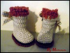 Chaussons bottes bébé en laine (3-6 mois) Les Hautes Esprit Haute Couture deba707108f