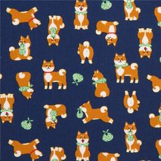 http://www.kawaiifabric.com/en/p11437-navy-blue-fabric-cute-brown-dog-green-scarf-from-Japan.html